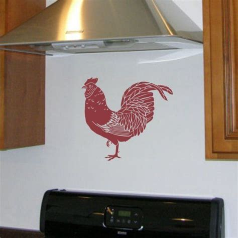 rooster decals for kitchen rooster wall decal vinyl wall sticker for your kitchen wall