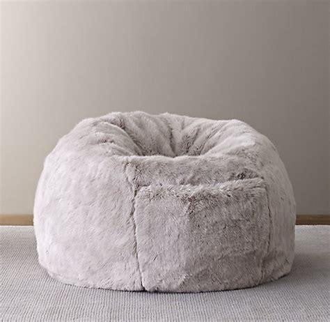 faux fur bean bag luxe faux fur bean bag grey fox