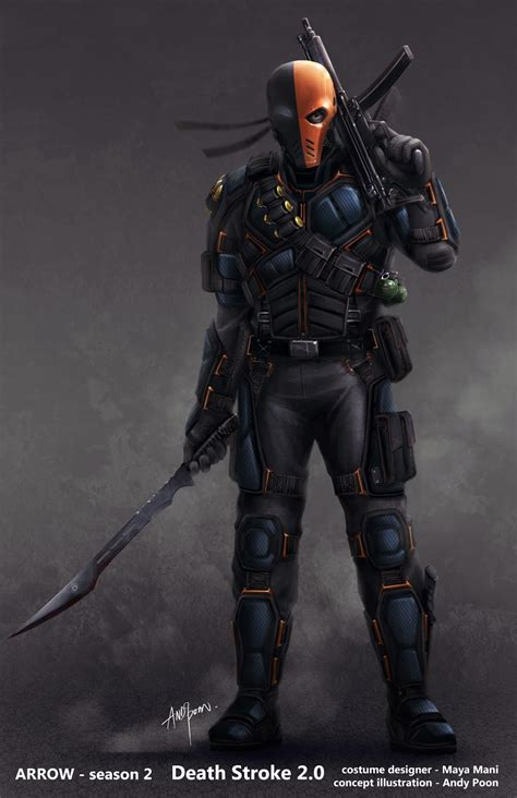 the art of andy poon deathstroke is back