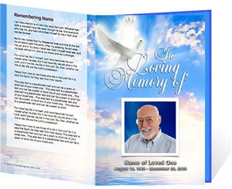 doc 520425 free funeral program template microsoft word