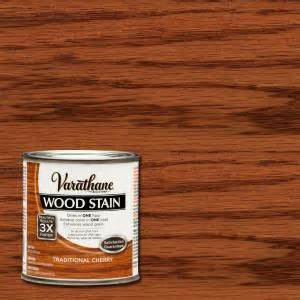 home depot wood stain varathane 1 2 pt traditional cherry wood stain 266202