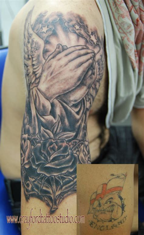 praying hands tattoo full sleeve praying hands cover up tattoo a photo on flickriver