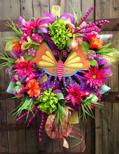 spring butterfly wreath artificialchristmaswreaths com 98 best spring deco mesh wreaths images on pinterest