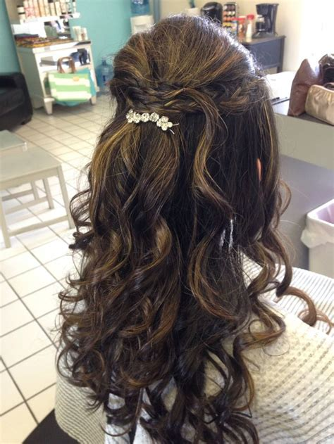 quinceanera hairstyles half up half down prom updo half up half down salon a go go my prom hair