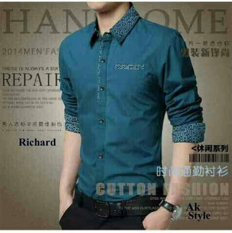 Kemeja Pria Casual Murah Lengan Pendek Katun Terbaru Best Seller Keren baju kemeja pria kerja keren model terbaru slim murah