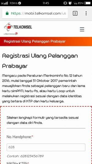 format daftar ulang kartu begini cara registrasi atau daftar ulang kartu sim