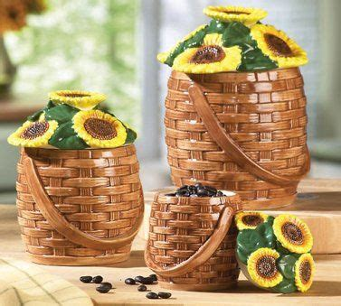 sunflower canisters for kitchen 512 best kitchen canisters images on pinterest canister