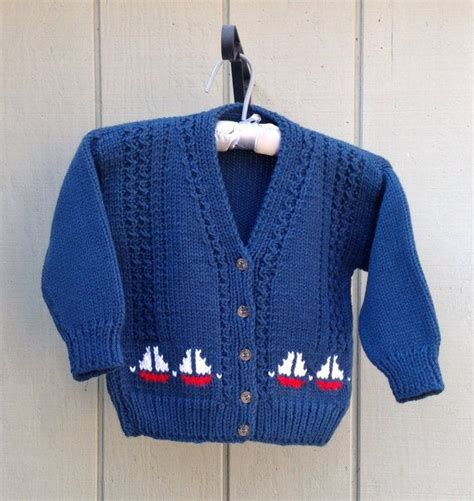 knitting motifs for babies and boys knit cardigan with sail boat motifs navy