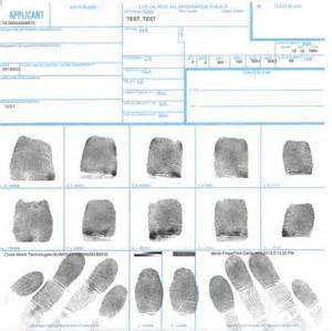 fingerprint template fbi ink fingerprinting