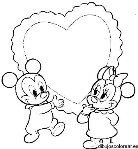 imagenes de amor para dibujar de mickey mouse mickey y minnie amor para dibujar imagui