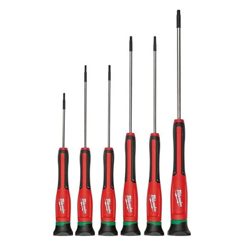 Precision Screwdriver Set 6 Pcs C Mart Tools C0025 Diskon 1 milwaukee 48 22 2610 6pc torx precision screwdriver set w