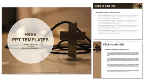 simple wooden Christian cross necklace-PowerPoint Templates 16:9 Powerpoint Christian Templates Free