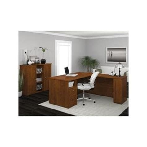 costco augusta l shaped desk and storage unit kit d