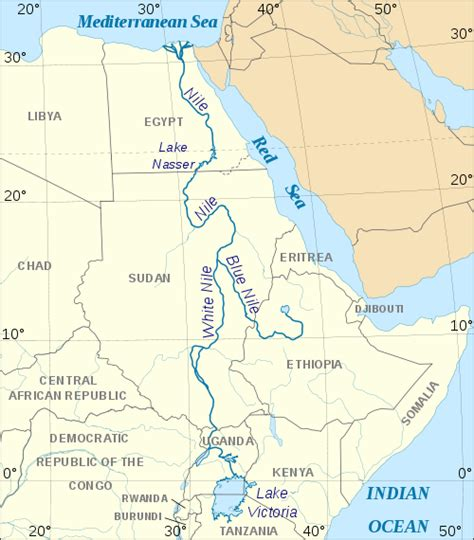 nile river on a africa map module twenty one activity one exploring africa