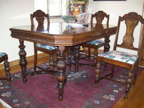 Antique Style Dining Table And Chairs Antique Dining Table And Chairs Marceladick