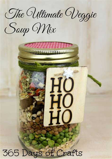 christmas soup in a jar ultimate veggie soup mix in a jar 365 days of crafts inspiration