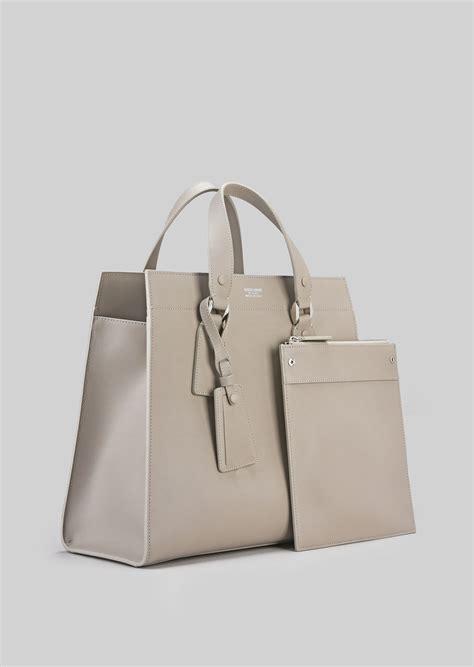 Bag Selempang Giorgio Armani 9661 tote bag in vegetable tanned calfskin for giorgio armani
