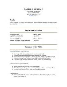 Show Me A Resume Exle by Exles Of Resumes A Sle Resume For Internship College Student Work With Show Me 89