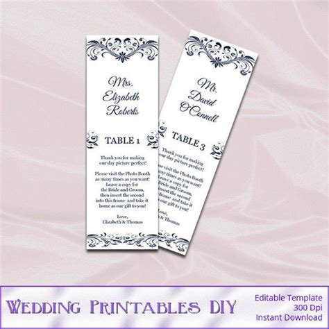 Photo Booth Frame Place Card Template by Wedding Photo Booth Place Card Frame By