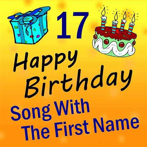 song with the first name vol 17 by happy birthday