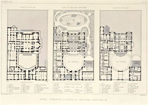 stanley hotel floor plan floor plans of the former h 244 tel camondo paris hotels