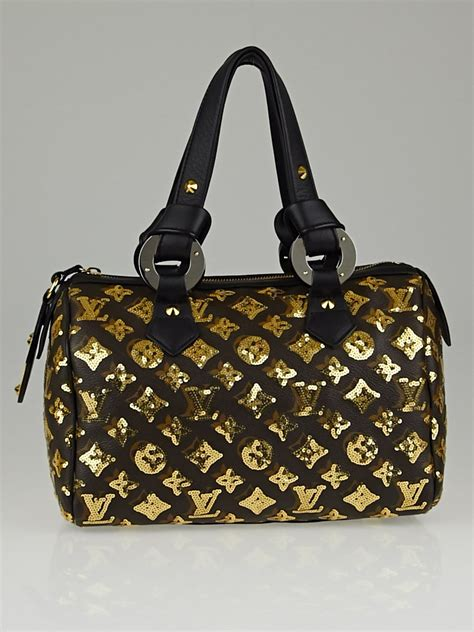 Tas Lv Seepdy Edition louis vuitton limited edition gold monogram eclipse speedy 28 bag yoogi s closet