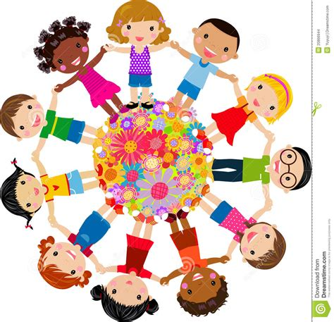 petit canapé pour enfant groupe d enfants illustration de vecteur illustration du