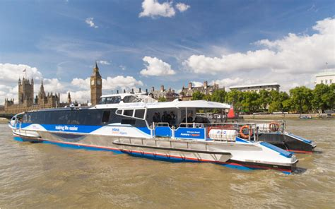 thames river taxi to o2 about river bus transport for london