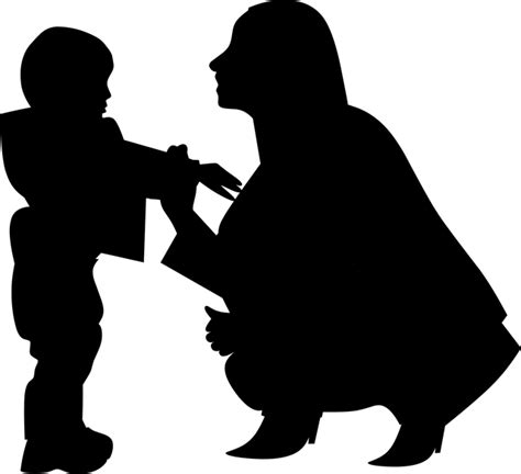 photo silhouette woman mothers day mother  baby