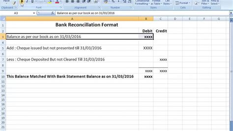 Bank Reconciliation Statement Format In Excel After Seen That You Can Easily Make Bank Reco Bank Reconciliation Template Excel