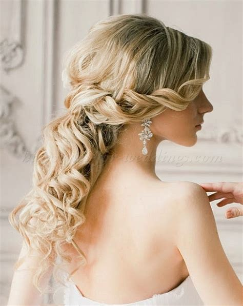 Half Up Half Hairstyles For Wedding by Wedding Hairstyles For Medium Length Hair Half Up Half