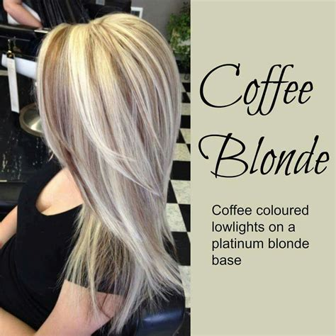 color highlights for ash base coffee blonde hair color idea coffee colored lowlights on
