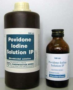 povidone iodine for dogs scrubs on