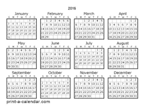 printable calendar 2016 entire year download 2016 printable calendars