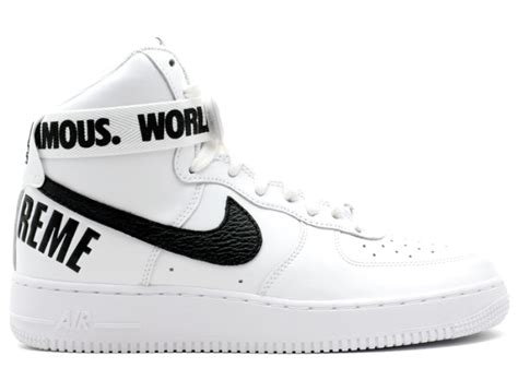 supreme nike air 1 air 1 high supreme sp quot supreme quot white black