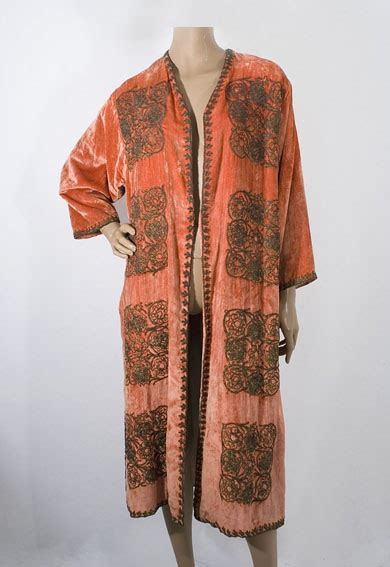 1920s Fashion At Vintage Textile by Babani Metallic Embroidered Velvet Coat 1920s From The