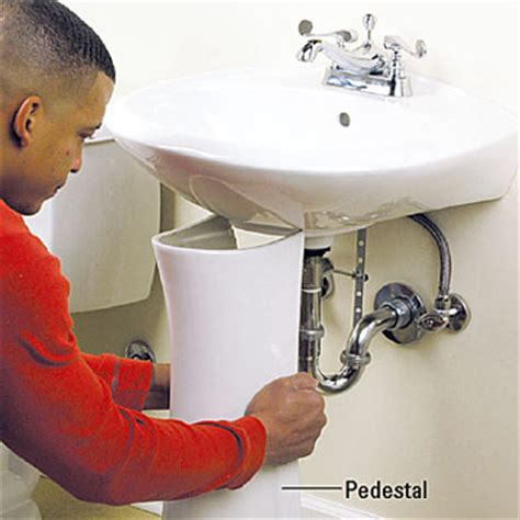 Storage Cabinet For Under Pedestal Sink How To Fix Plumbing Under The Sink Ehowcom Apps Directories