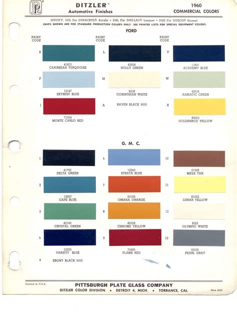 paint chips 1960 gmc