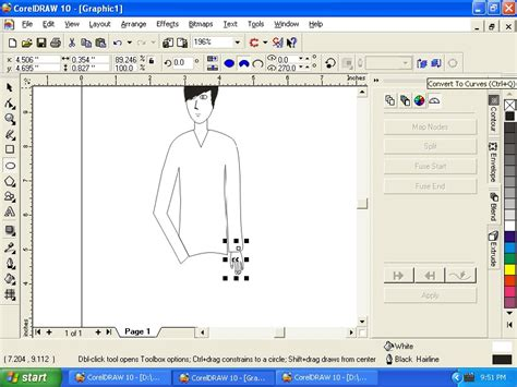 all anime membuat gambar manusia dengan corel draw