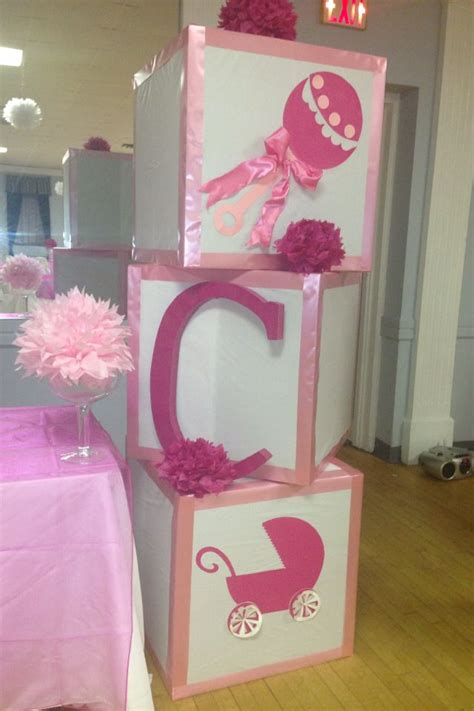 Big Ideas For Baby Shower by Baby Blocks For Baby Shower Baby Shower Ideas