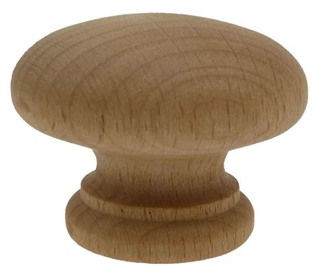 beech wood wooden pull knob knobs handle cupboard kitchen