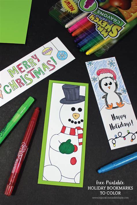 printable seasonal bookmarks printable holiday bookmarks to color bookmarks free