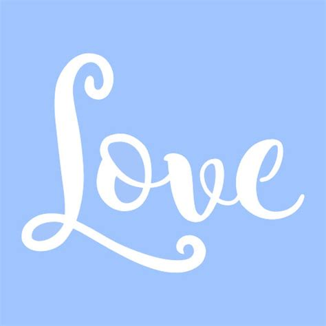 templates for word love 7 quot love stencil stencils template templates craft word
