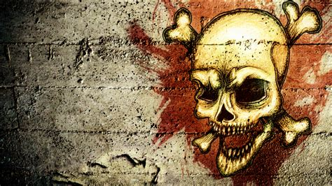 hd grunge skull wallpaper by pr1m3vil on deviantart