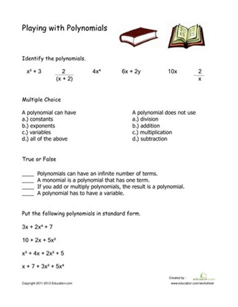 Mixed Factoring Review Worksheet by Math Worksheets Go Mixed Review Polynomials Worksheets