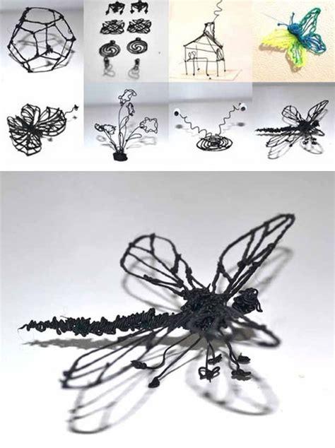 3d Printing Pen Draw Sculptures With This Magical Marker Urbanist 3d Pen Templates For Beginners