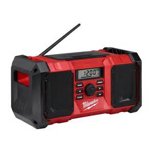 home depot milwaukee radio milwaukee 2890 20 m18 jobsite radio