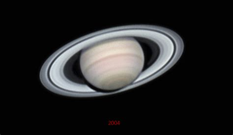 saturns year apod 2007 april 6 four years of saturn