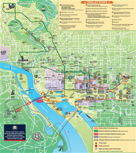 washington dc map of attractions washington sightseeing map washington dc map