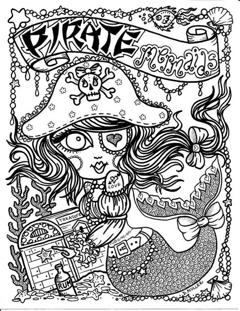 printable zentangle legend pirate mermaid myth mythical mystical legend mermaids